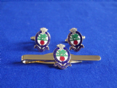 PRINCESS OF WALES'S ROYAL REGIMENT ( PWRR ) CUFF LINK AND TIE GRIP / CLIP SET
